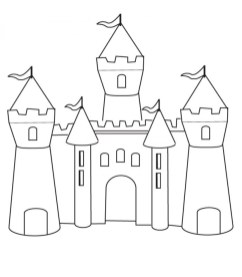 Castle Coloring Pages Free bc611