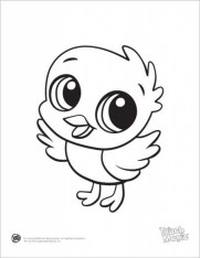 Coloring Pages of Cute Animal for Kids arq2m