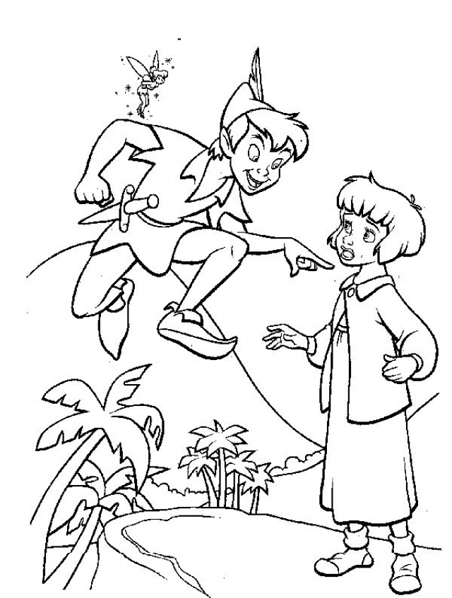 Coloring Pages of Peter Pan to Print   1gtrn