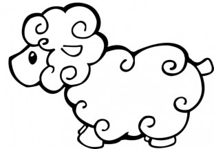 Coloring pages of sheep taq5b