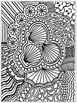 Cool Abstract Design Coloring Pages 73182
