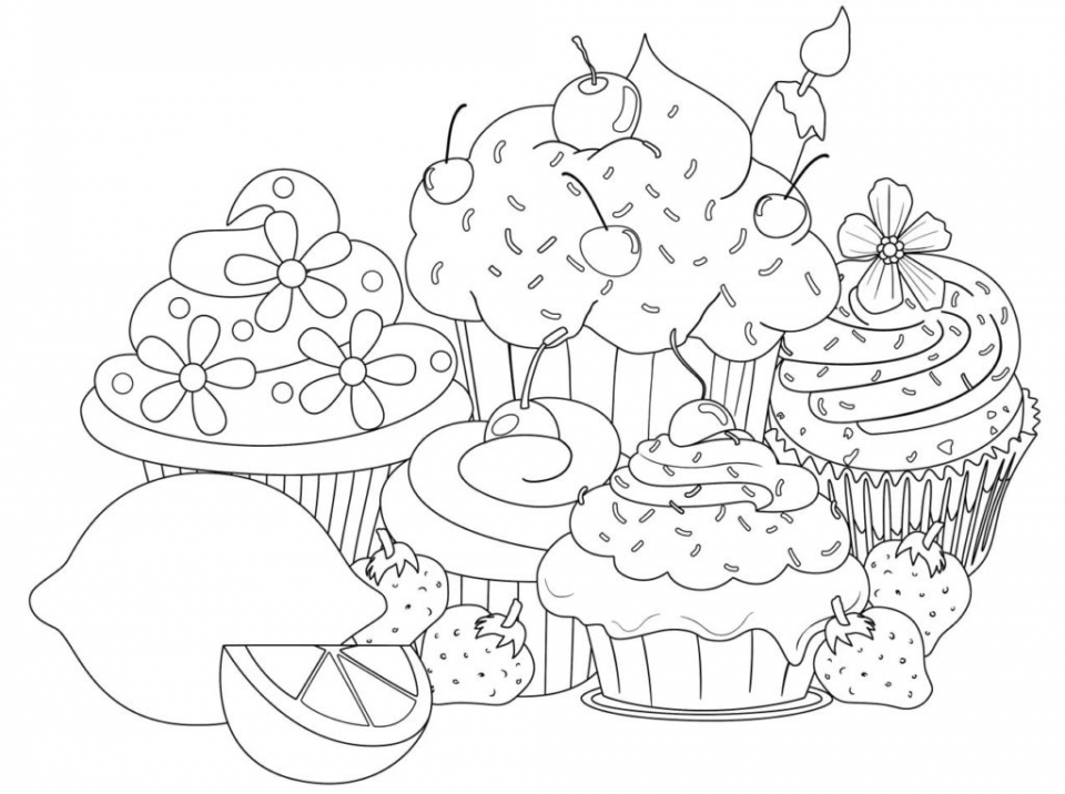 Cupcake Coloring Pages – coloring.rocks! | 716x960