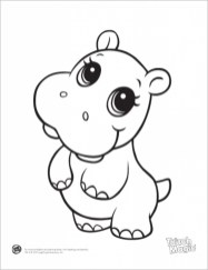 Cute Baby Animal Coloring Pages to Print t318d