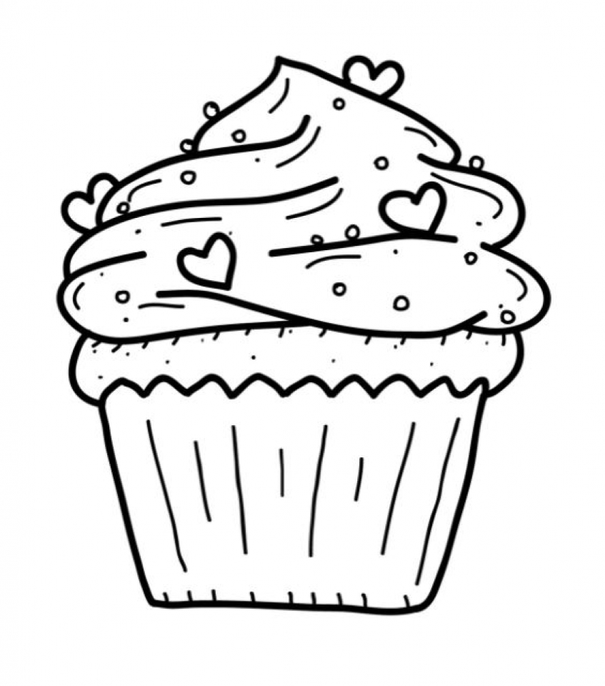 Cute Cupcake Coloring Pages   20671