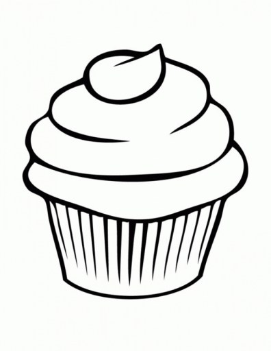 Cute Cupcake Coloring Pages 38611