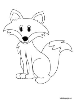 cute fox coloring pages for kids - 97451