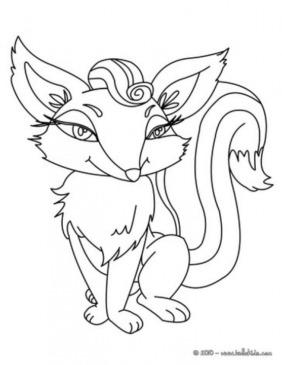 Cute Fox Coloring Pages   nu6x3