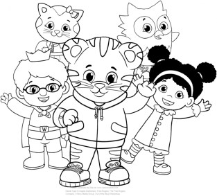 Daniel Tiger Coloring Pages for Kids 3a6yt