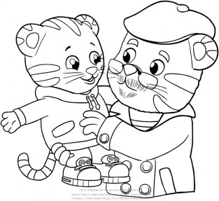 Daniel Tiger Coloring Pages for Kids 4bvo5
