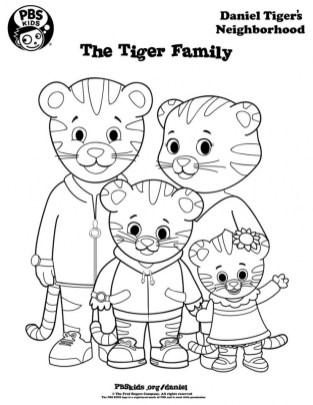 Daniel Tiger Coloring Pages Printable 65g3m
