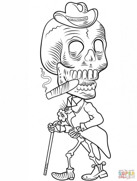 Day of the Dead Coloring Pages for Adults 097ba