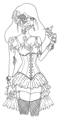 Day of the Dead Masks Coloring Pages b4bct