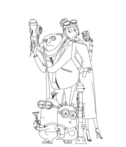 Despicable Me Coloring Pages Free for Toddlers 6d056