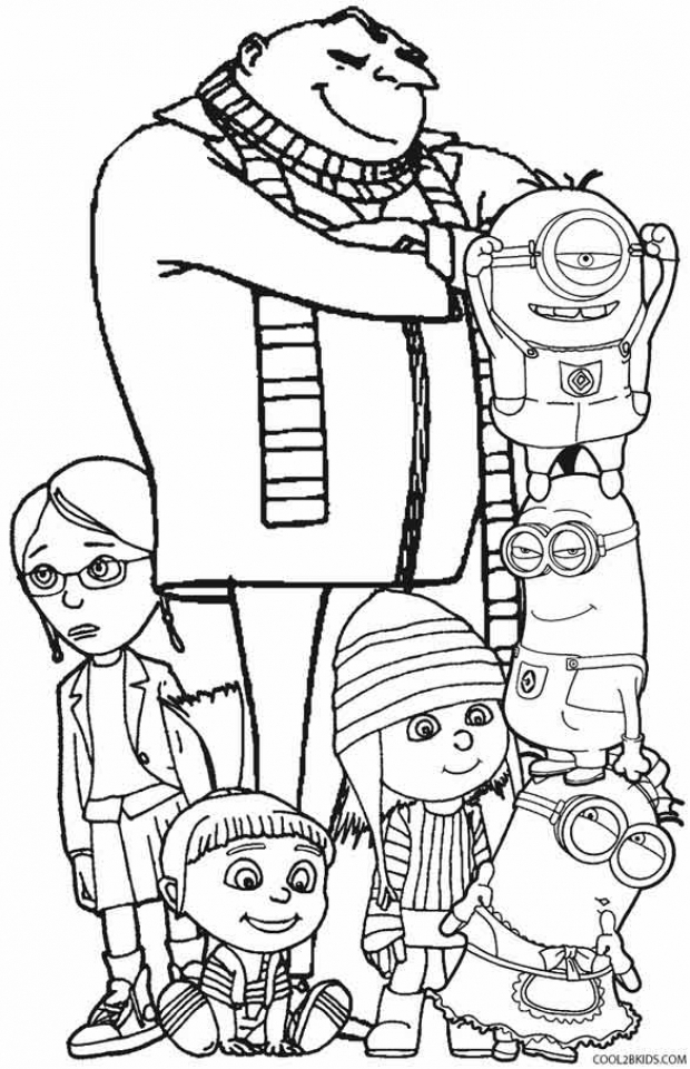 20+ Free Printable Despicable Me Coloring Pages - EverFreeColoring.com