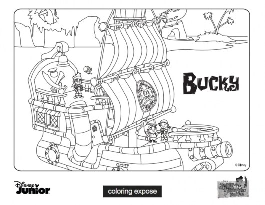 Disney Jake and The Neverland Pirates Coloring Pages xt4ba