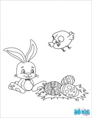 Easter Bunny Coloring Pages for Preschoolers 95731