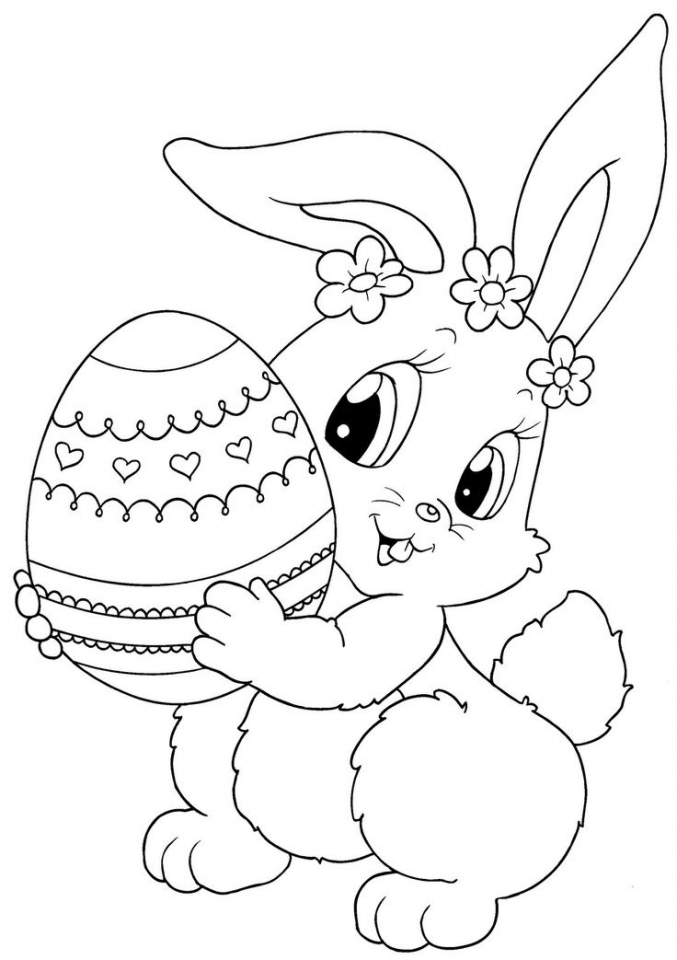 Easter Bunny Coloring Pages for Toddlers   85718