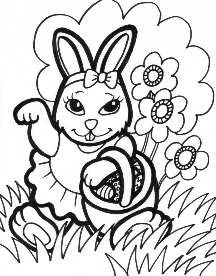 Easter Bunny Coloring Pages Free   76219