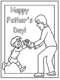 Father's Day Coloring Pages Free cv127