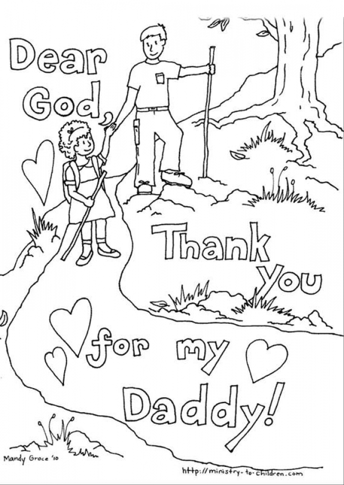 Father's Day Coloring Pages Free Printable   728ag