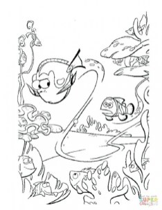 Finding Nemo Coloring Pages for Kids sg46c