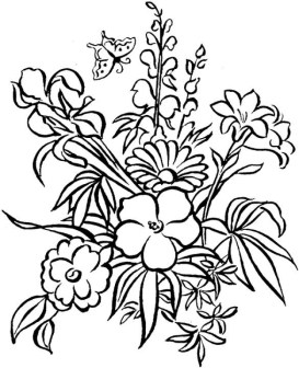 Flowers Coloring Pages 3895