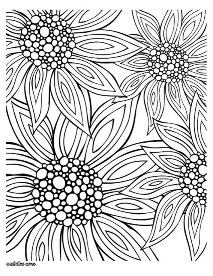 Flowers Coloring Pages for Adults Printable   5271d