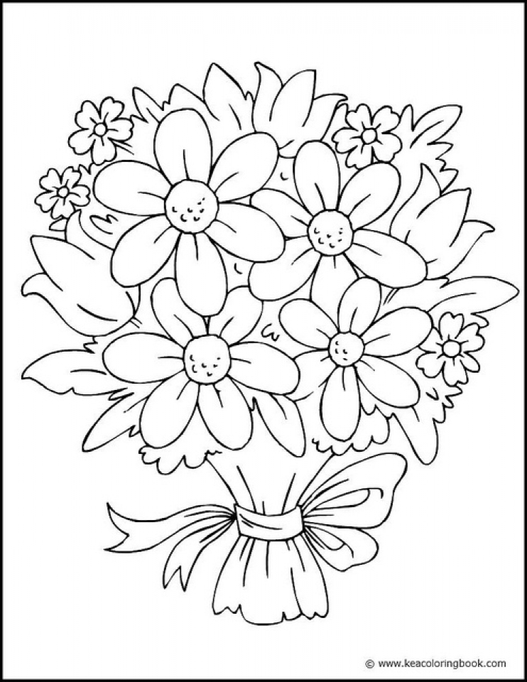 Flowers Coloring Pages Free to Print   4611