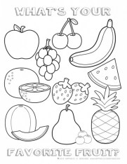 Food Coloring Pages best fruit h37sn
