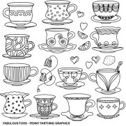 Food Coloring Pages coffee and tea 95nv7
