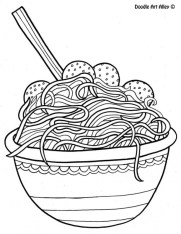 Food Coloring Pages noodle 8g4cm