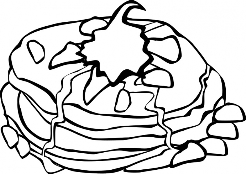 Food Coloring Pages pancake   l46c2