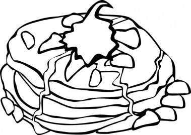 Food Coloring Pages pancake l46c2