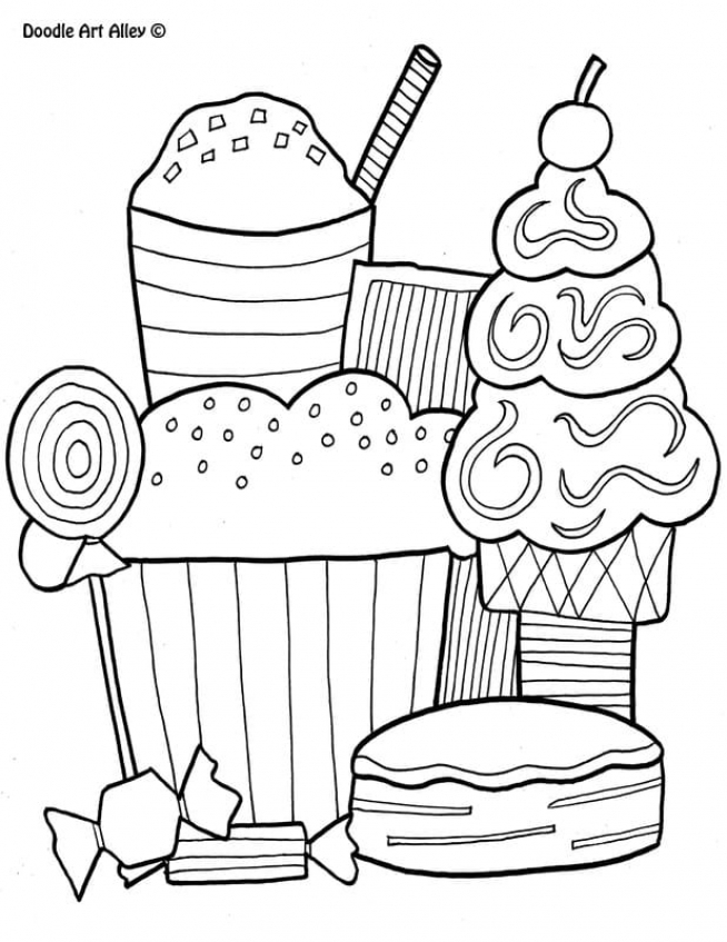 Food Coloring Pages sweets   h3bx7
