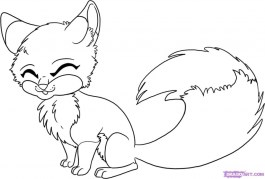 Fox Coloring Pages for Kids 7fg5n