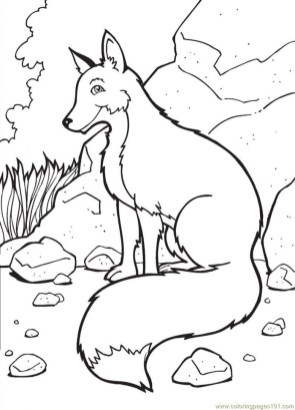 Fox Coloring Pages for Kids t4b61