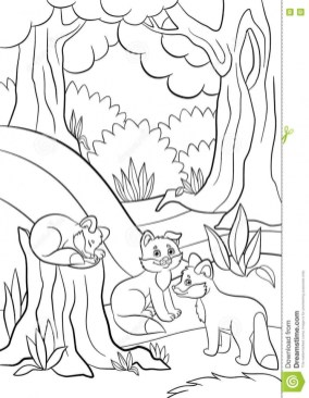 Fox Coloring Pages for Toddlers 61185