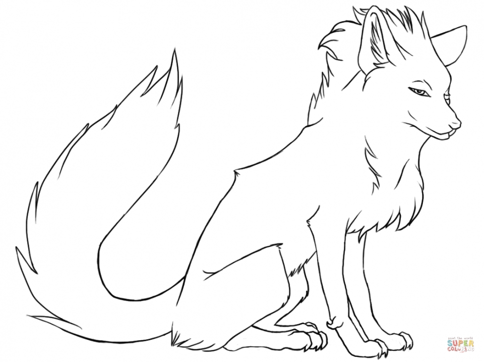 Fox Coloring Pages for Toddlers   74891