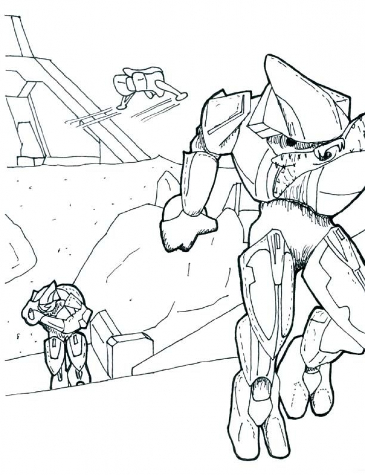 Halo Coloring Pages for Kids   318vb
