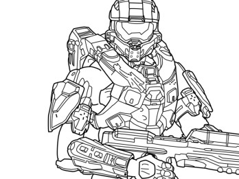 Halo Coloring Pages Printable 61729