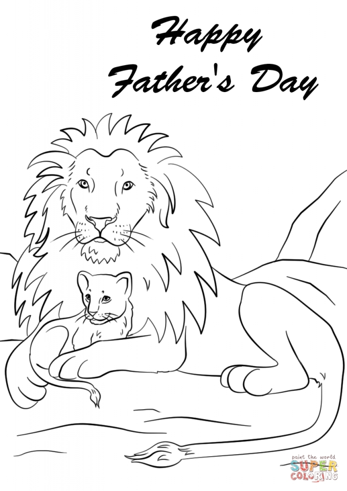 Get This Happy Father's Day Coloring Pages Free 0ayen