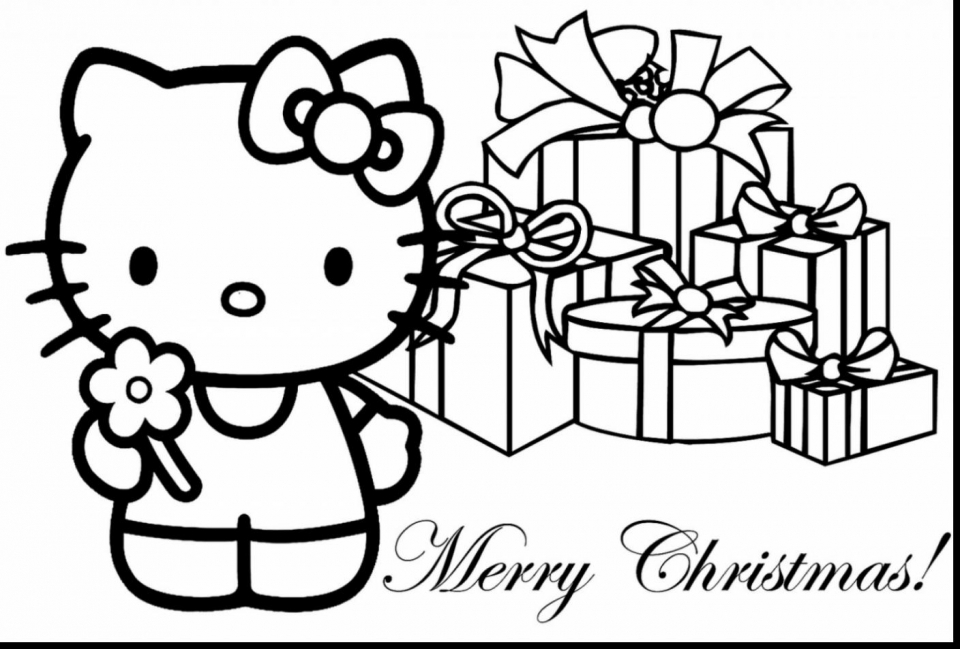hello kitty coloring pages christmas   73ncl