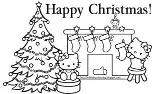 hello kitty coloring pages christmas lp5nv