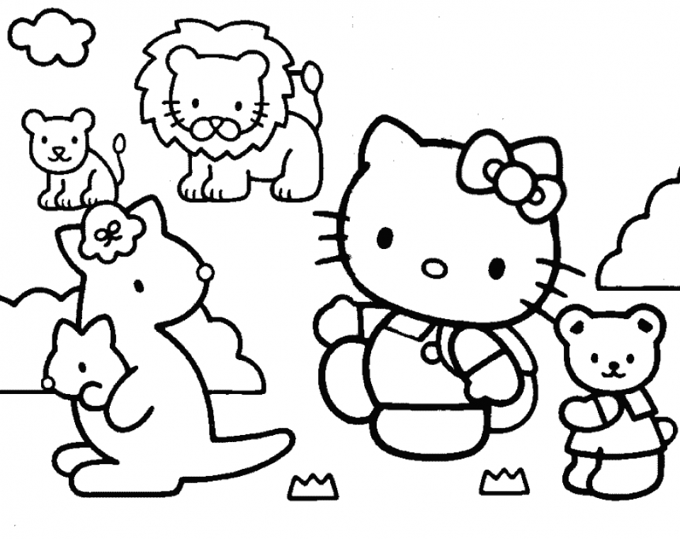 Hello Kitty Coloring Pages for Girl   way3m