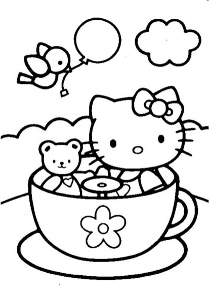 Hello Kitty Coloring Pages for Kids wydm5