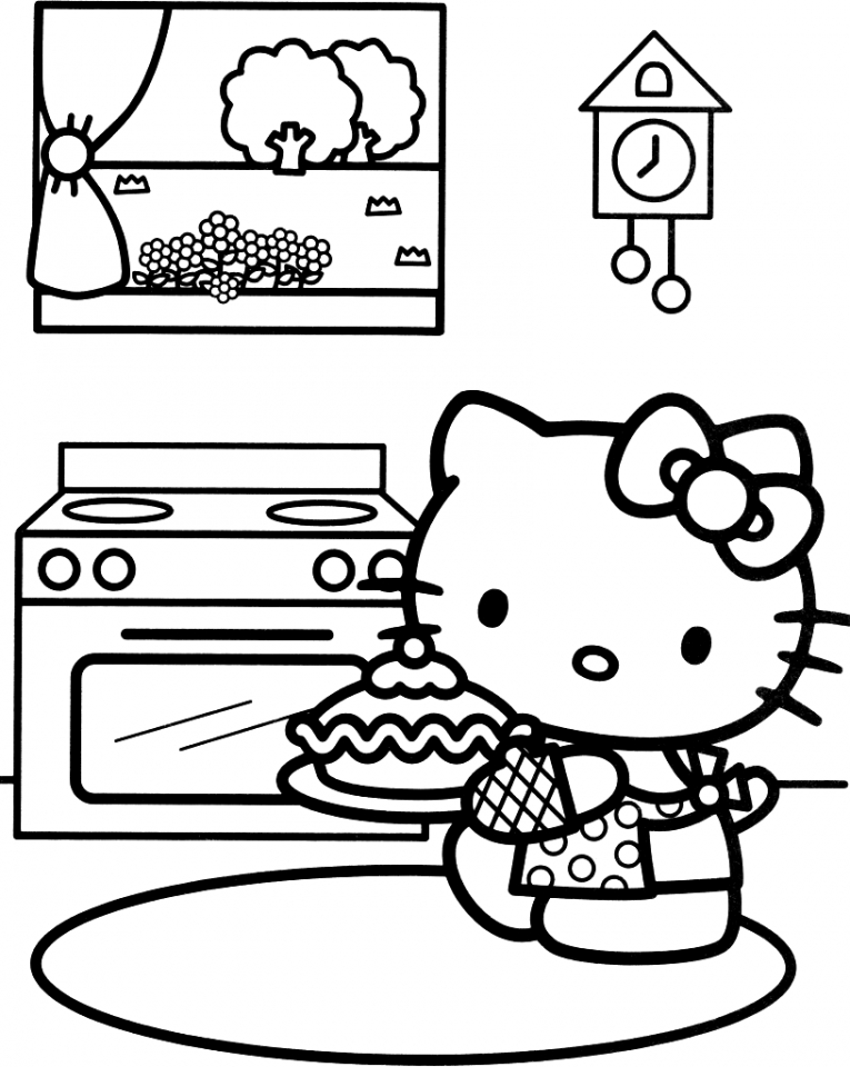 Hello Kitty Coloring Pages Online   wat3b