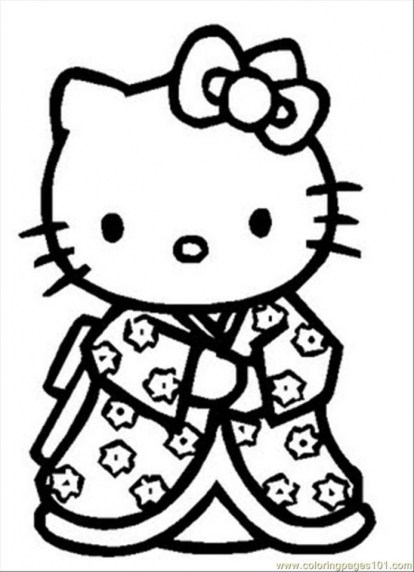 Hello Kitty Coloring Pages to Print 6883m