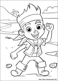Jake and The Neverland Pirates Coloring Pages Free 6316s