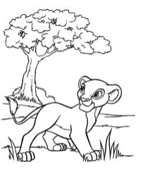 lion king coloring book pages - 846fg