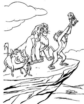 lion king coloring book pages - yabs2